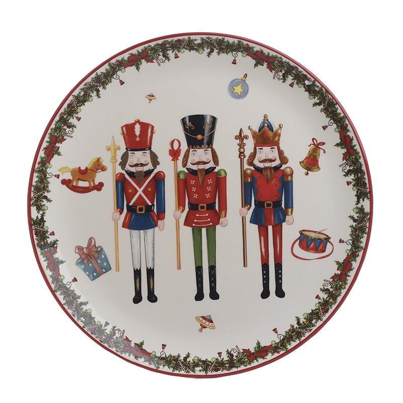Χριστουγεννιάτικη Πιατέλα InArt Καρυοθραύστης 2-60-945-0060