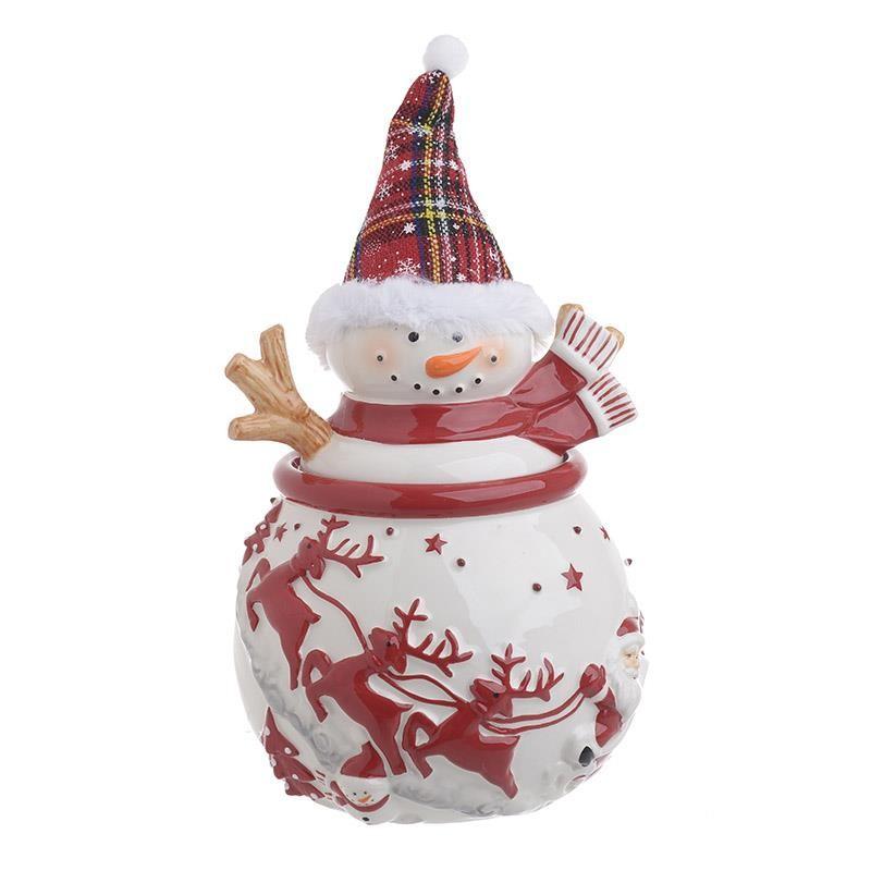 Χριστουγεννιάτικη Μπισκοτοθήκη InArt Χιονάθρωπος 2-60-945-0065