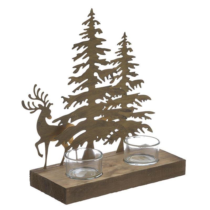 Χριστουγεννιάτικο Κηροπήγιο 2 Θέσεων InArt 2-70-669-0010