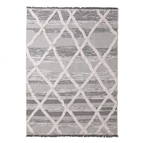 Χαλί All Season (129x190) Royal Carpets Casa Cotton 22317 Grey/Black