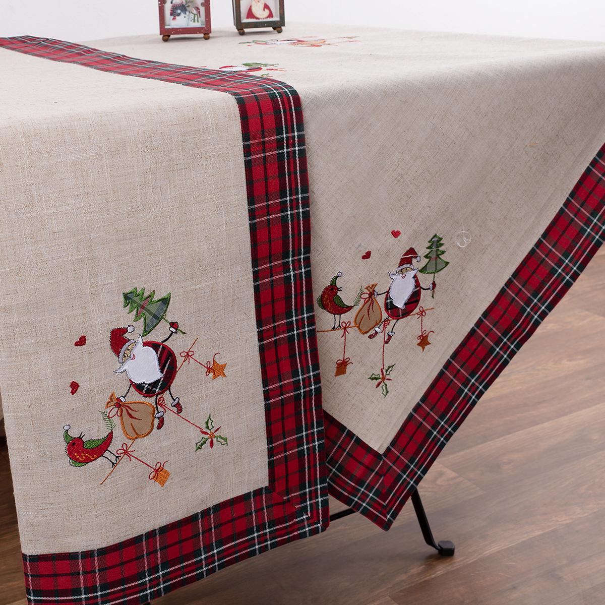 Χριστουγεννιάτικο Τραπεζομάντηλο (140×180) Silk Fashion 4094