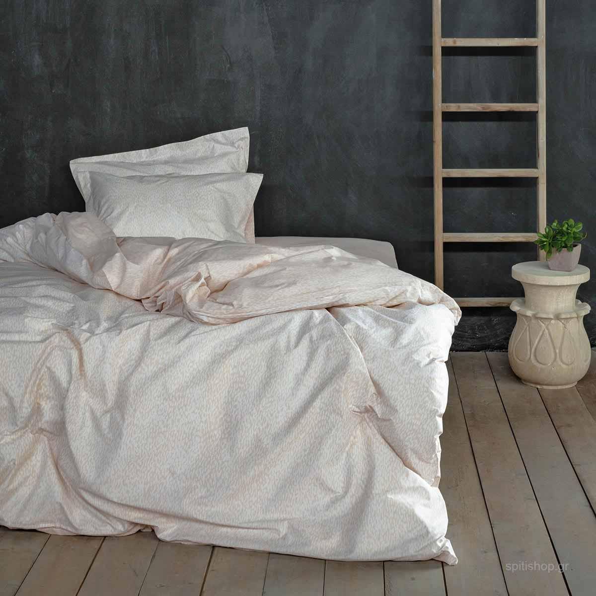 Παπλωματοθήκη Υπέρδιπλη (Σετ) Nima Bed Linen Indefinite Beige