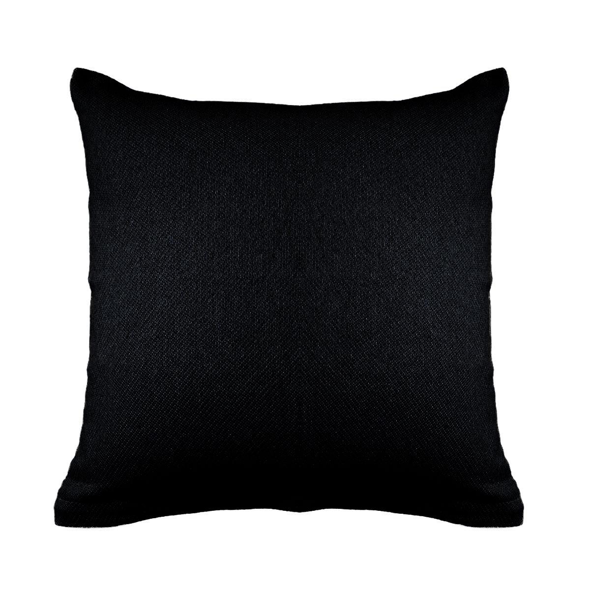 Διακοσμητική Μαξιλαροθήκη (40×40) Ravelia Pure Black
