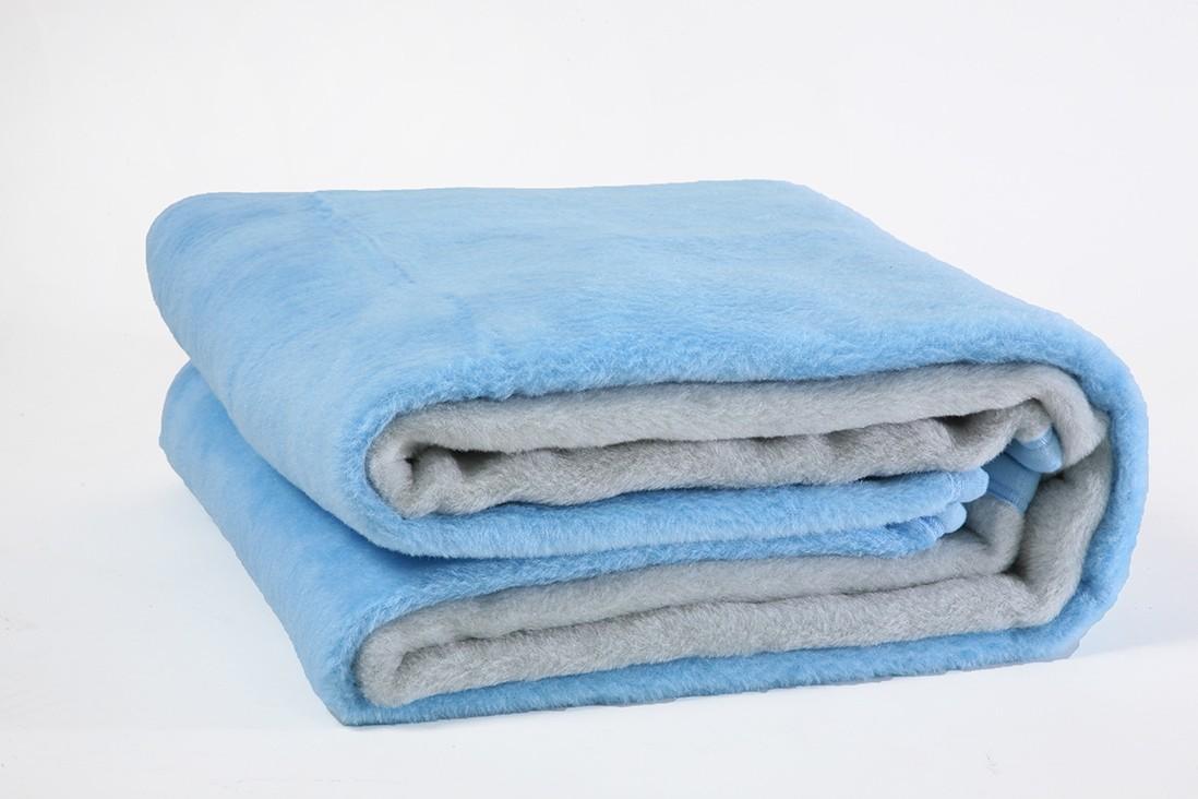 Κουβέρτα Ακρυλική Μονή Viopros Bicolor Aqua-Grey home   κρεβατοκάμαρα   κουβέρτες   κουβέρτες βελουτέ μονές