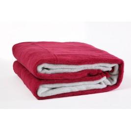 Κουβέρτα Ακρυλική Μονή Viopros Bicolor Cherry-Grey