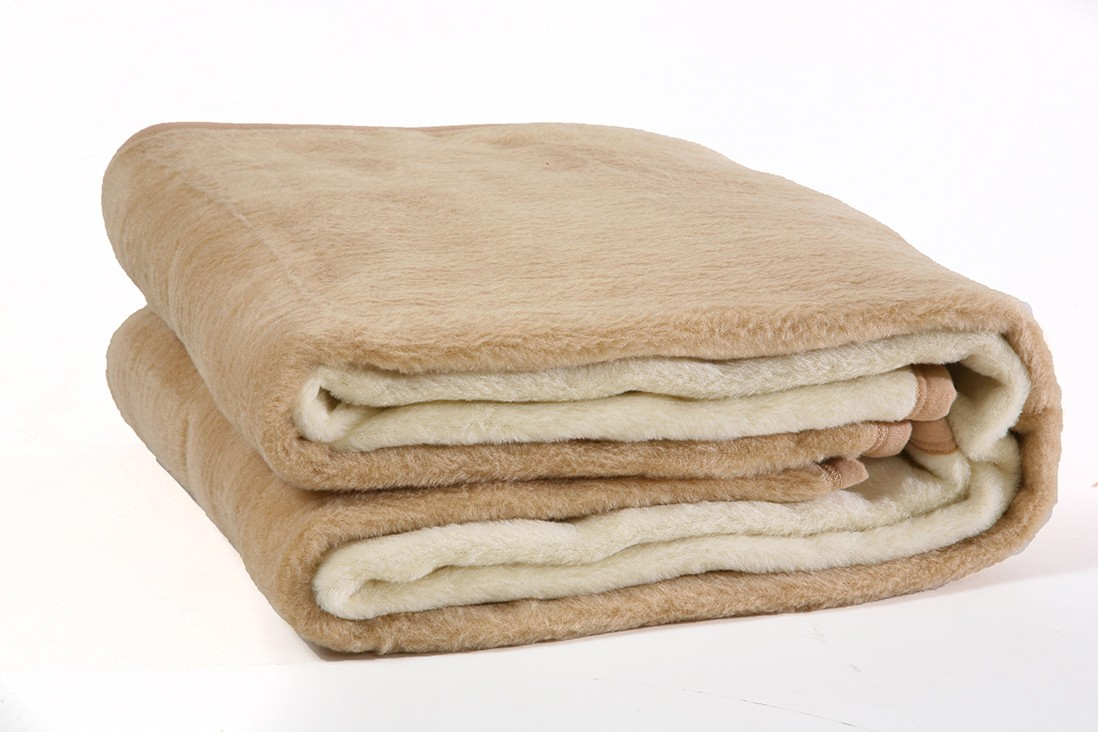 Κουβέρτα Ακρυλική Μονή Viopros Bicolor Ecru-Beige