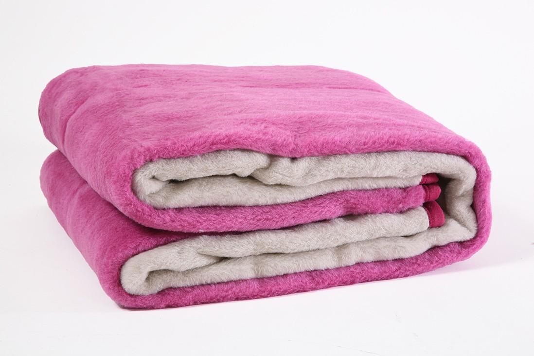 Κουβέρτα Ακρυλική Μονή Viopros Bicolor Lilac-Linen 36960