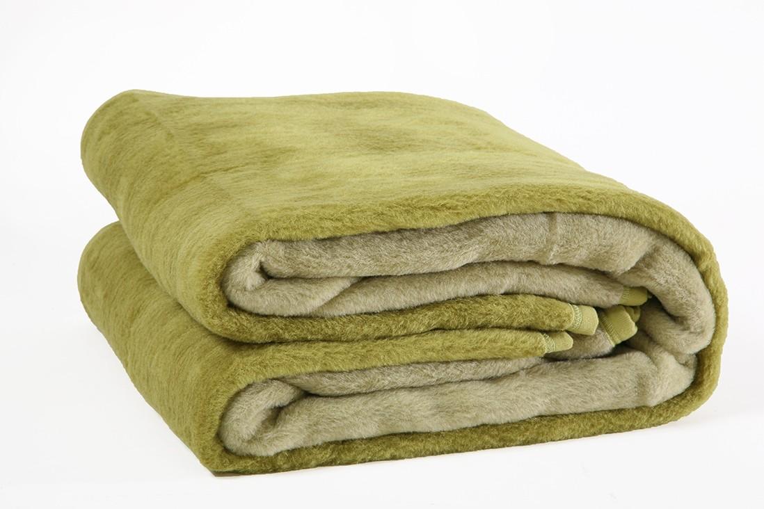 Κουβέρτα Ακρυλική Μονή Viopros Bicolor Oil-Green