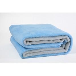 Κουβέρτα Ακρυλική Υπέρδιπλη Viopros Bicolor Aqua-Grey