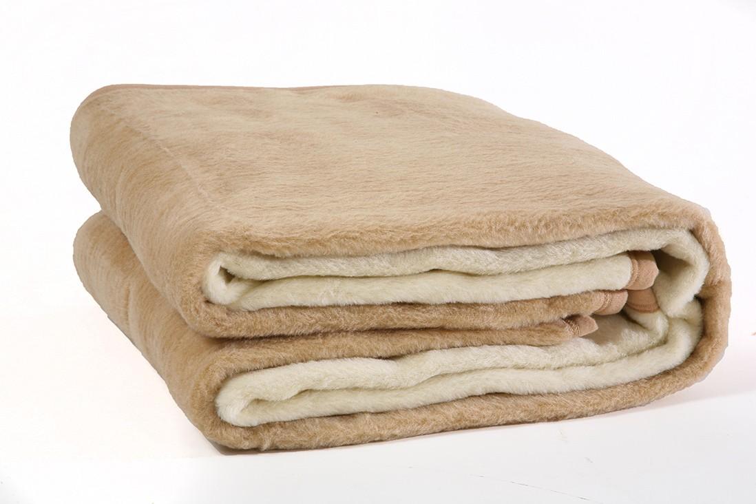 Κουβέρτα Ακρυλική Υπέρδιπλη Viopros Bicolor Ecru-Beige