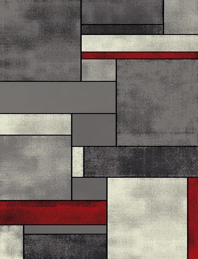 Χαλί (133×190) Viopros Μόντερν Γκρι 36981