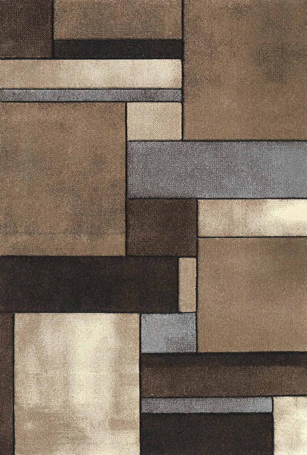Χαλί (133x190) Viopros Μόντερν Μπεζ