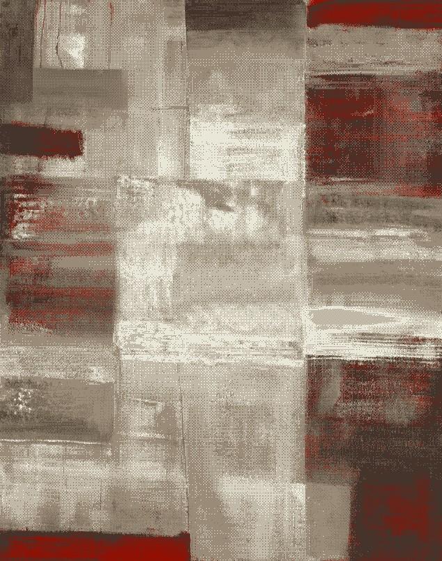 Χαλί (133×190) Viopros Νταλί Κόκκινο 36997