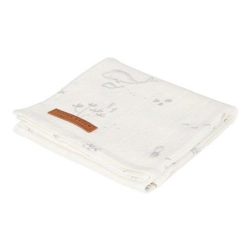 Κουβέρτα Μουσελίνα Κούνιας Little Dutch Ocean White LD50420690