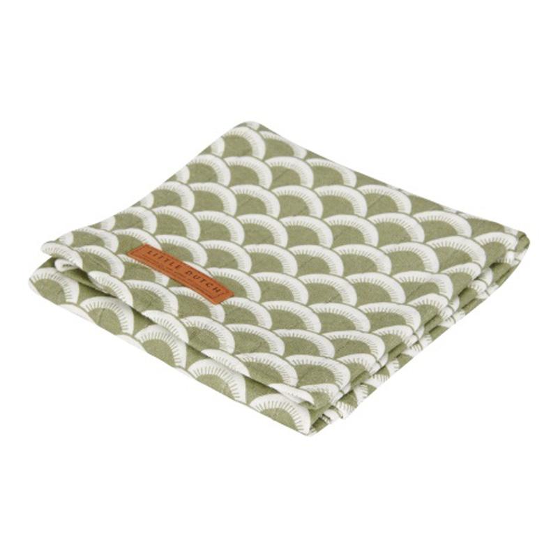 Κουβέρτα Μουσελίνα Κούνιας Little Dutch Sunrise Olive LD50420711