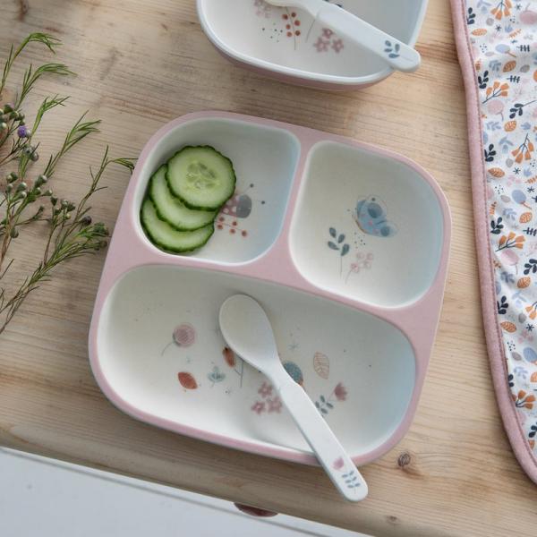 Δίσκος Φαγητού Με Χώρισμα Little Dutch Spring Flowers LD4495