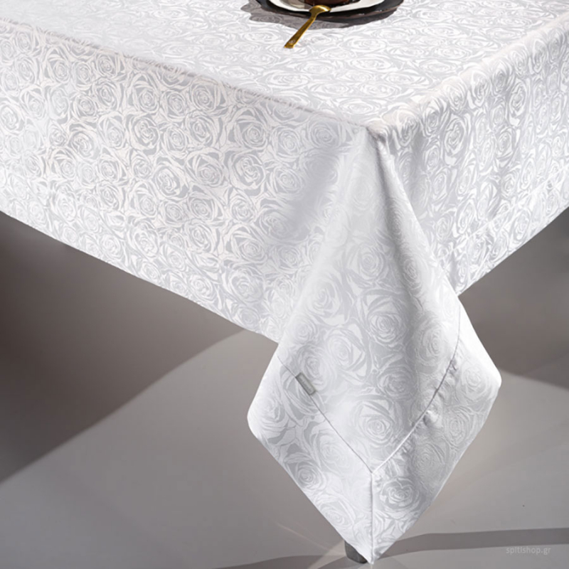 Τραπεζομάντηλο (160x220) Guy Laroche Bouquet White