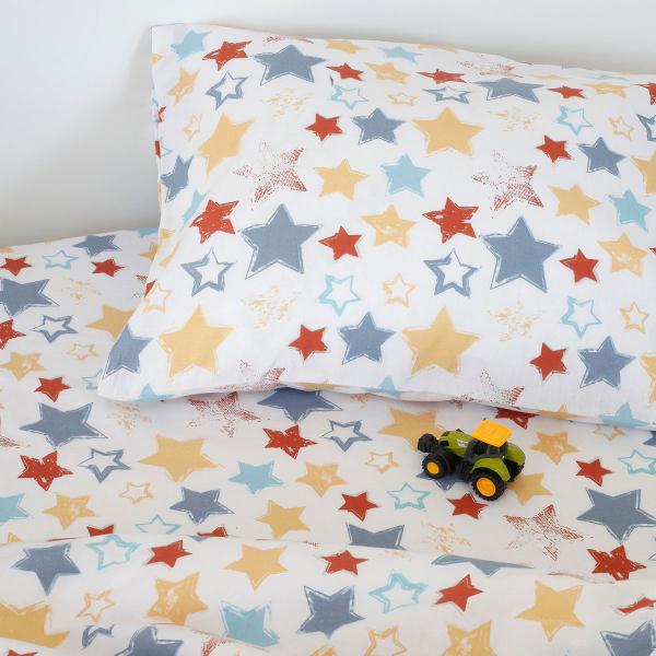 Ζεύγος Παιδικές Μαξιλαροθήκες Melinen Kids Star Boy
