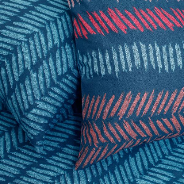 Ζεύγος Μαξιλαροθήκες Melinen Ultra Ελευθερία Indigo Μπλε