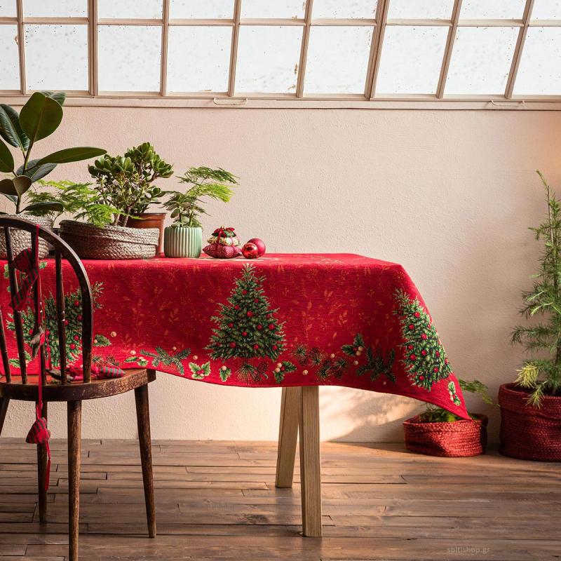 Χριστουγεννιάτικο Τραπεζομάντηλο (135x220) Gofis Home 603
