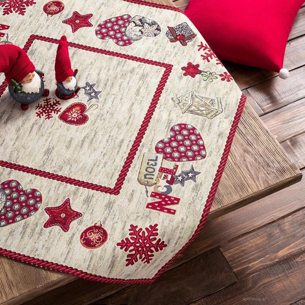 Χριστουγεννιάτικο Καρέ (90x90) Gofis Home 148