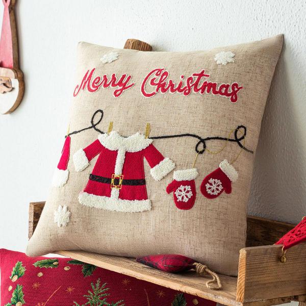 Χριστουγεννιάτικη Μαξιλαροθήκη (43x43) Gofis Home 350
