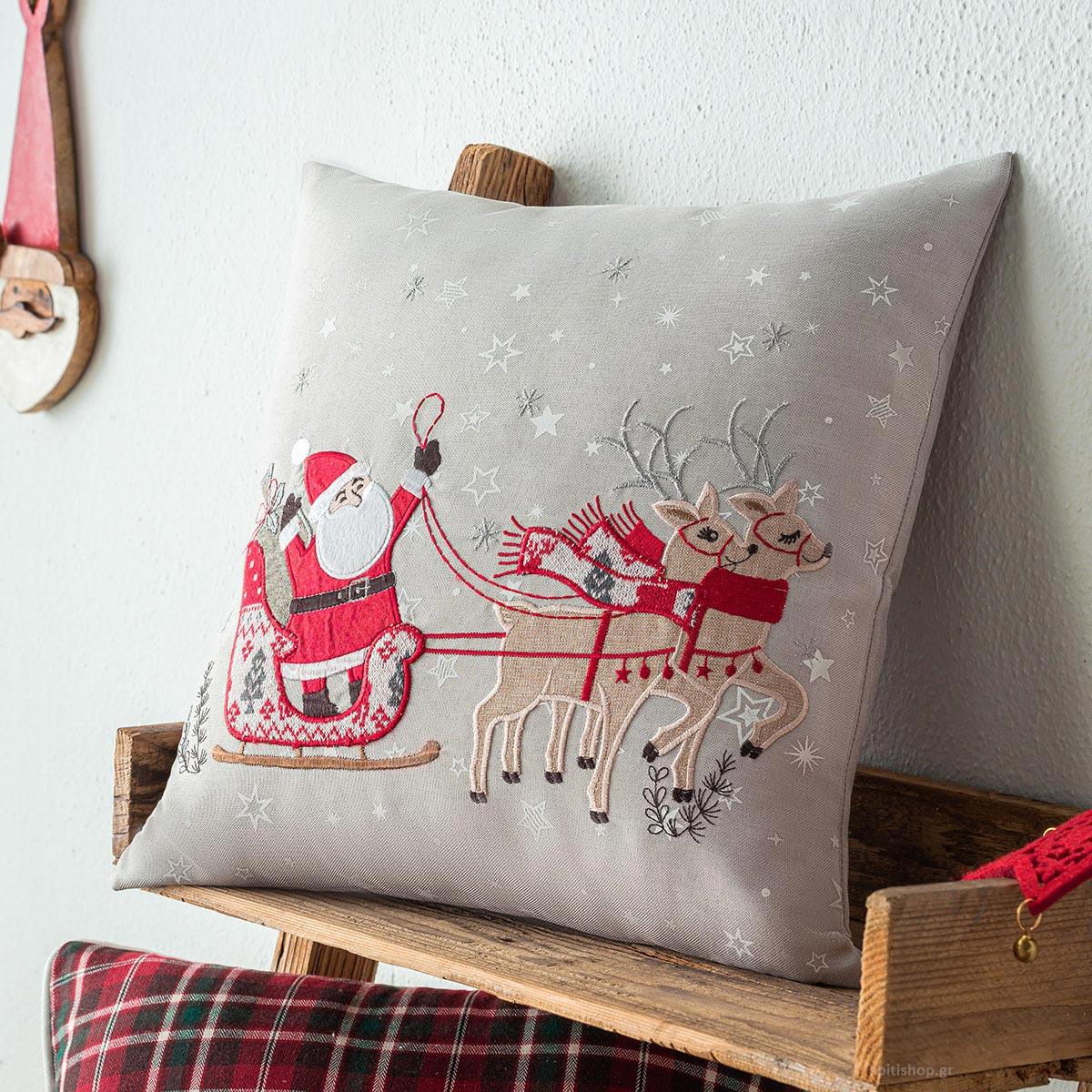 Χριστουγεννιάτικη Μαξιλαροθήκη (43×43) Gofis Home 493