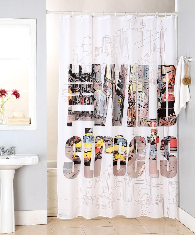 Κουρτίνα Μπάνιου (180×200) Viopros Σικάγο