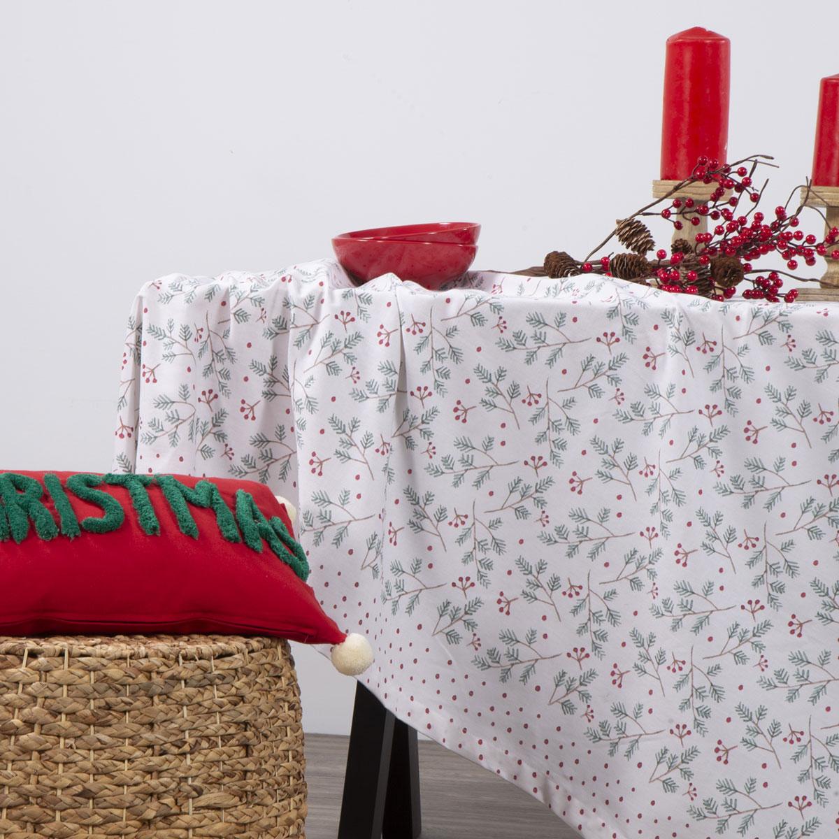 Χριστουγεννιάτικο Τραπεζομάντηλο (140×140) Nef-Nef Smooth Christmas