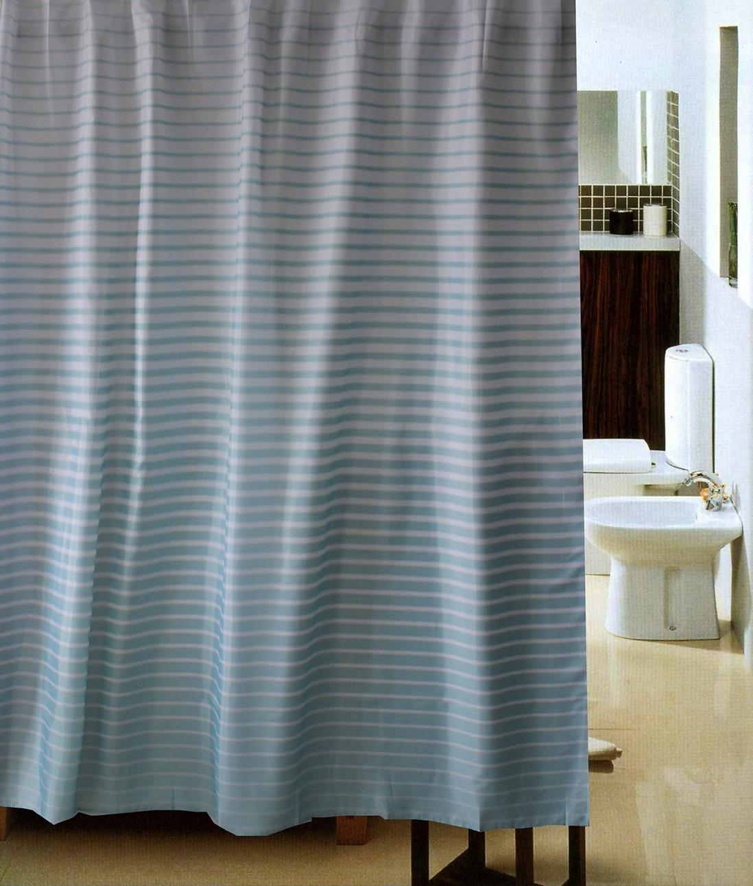 Κουρτίνα Μπάνιου (180x180) Viopros Ντεγκραντέ Σιελ