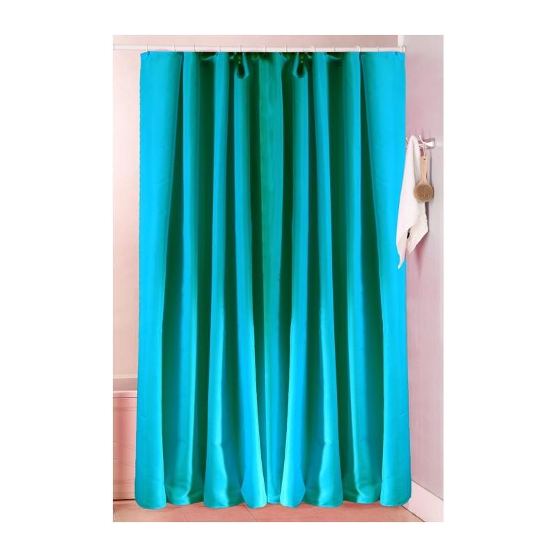 Κουρτίνα Μπάνιου (180x180) Viopros Unicolor Πετρόλ