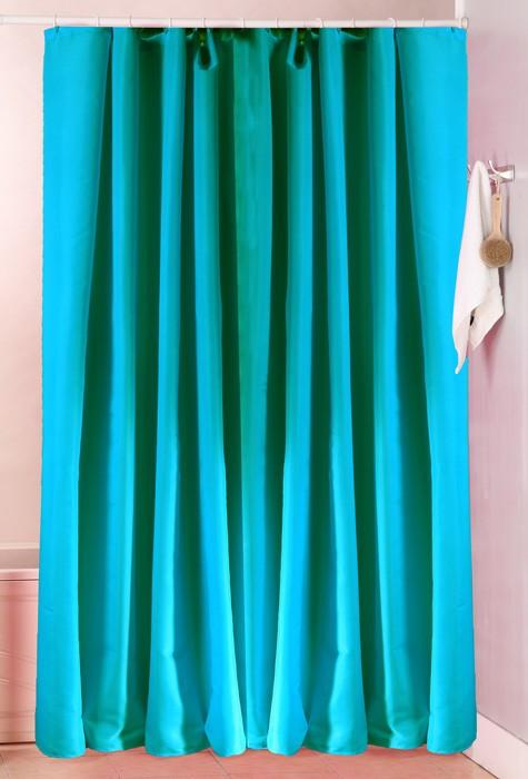 Κουρτίνα Μπάνιου (180×180) Viopros Unicolor Πετρόλ