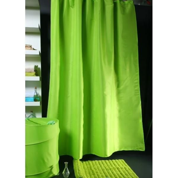 Κουρτίνα Μπάνιου (180x180) Viopros Unicolor Πράσινο