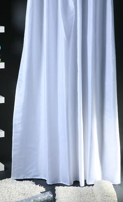 Κουρτίνα Μπάνιου (180×180) Viopros Unicolor Λευκό