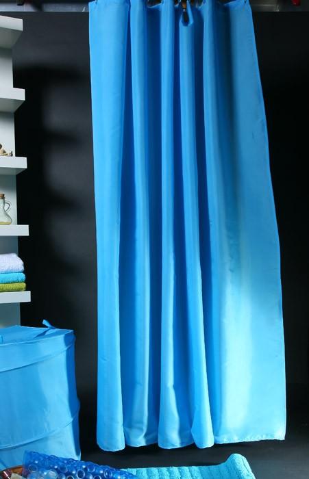 Κουρτίνα Μπάνιου (180x180) Viopros Unicolor Τυρκουάζ