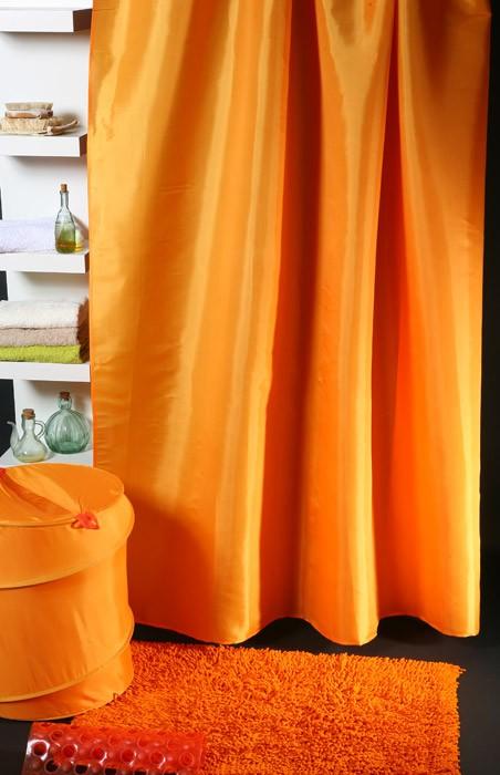 Κουρτίνα Μπάνιου (180x180) Viopros Unicolor Πορτοκαλί