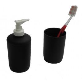 Αξεσουάρ Μπάνιου (Σετ 2τμχ) Viopros Bath Accessories Μαύρο