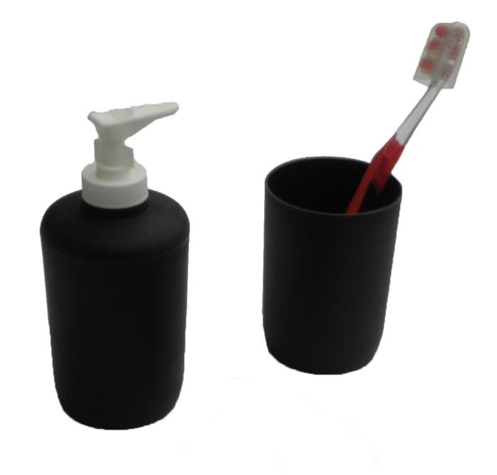 Αξεσουάρ Μπάνιου (Σετ 2τμχ) Viopros Bath Accessories Μαύρο 37282