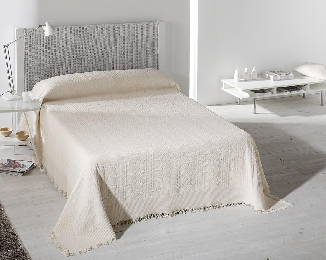 Κουβέρτα Πλεκτή Μονή Viopros Περλ 37347