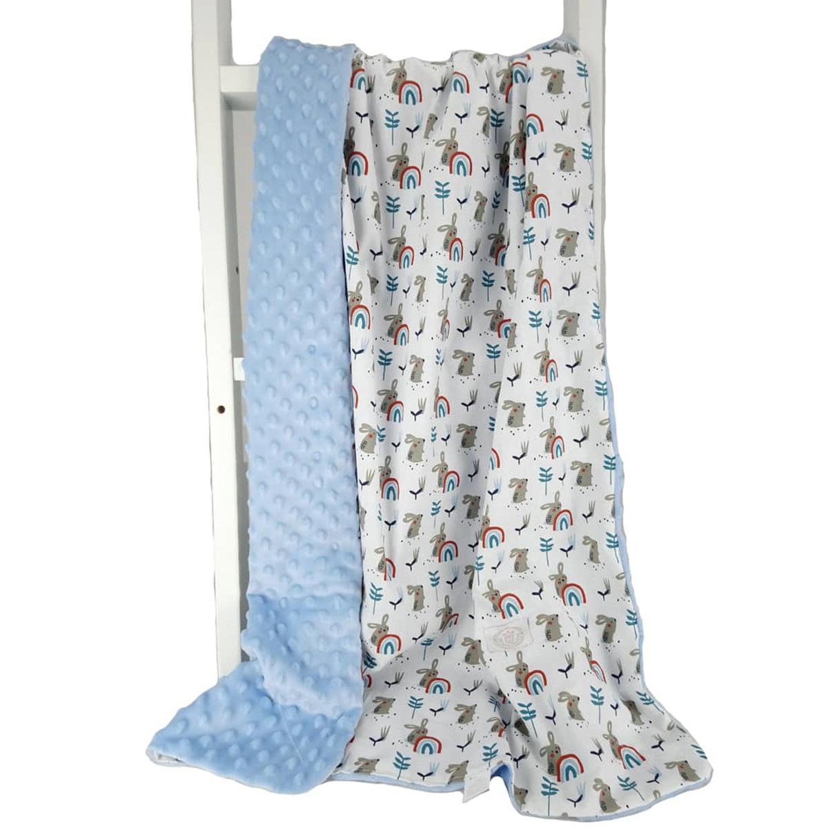 Κουβέρτα Minky Κούνιας Ninna Nanna Happy Feet