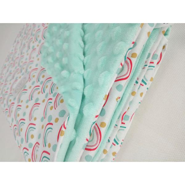 Κουβέρτα Minky Κούνιας Ninna Nanna Rainbow