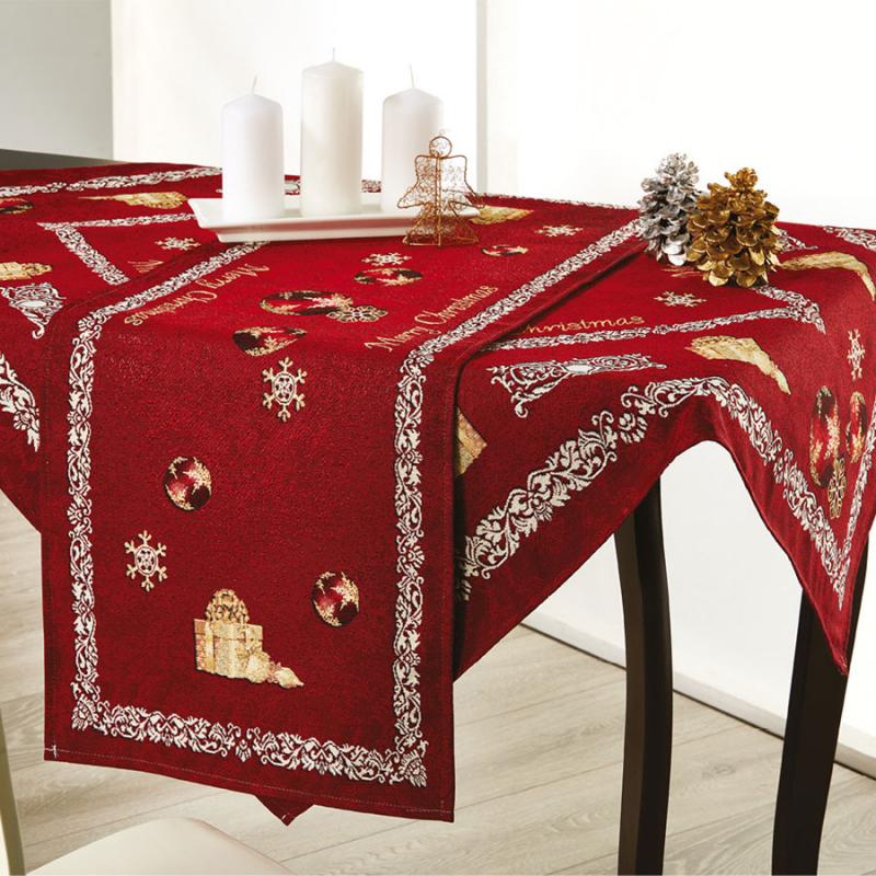 Χριστουγεννιάτικο Σετ Καρέ + Τραβέρσα Whitegg Z051