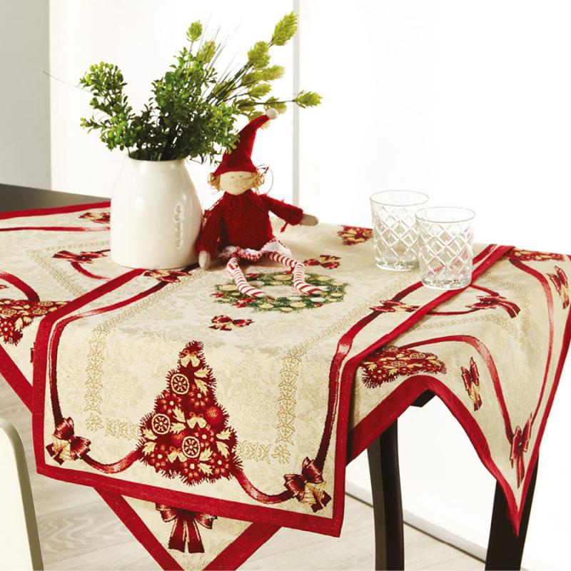 Χριστουγεννιάτικο Σετ Καρέ + Τραβέρσα Whitegg Z054