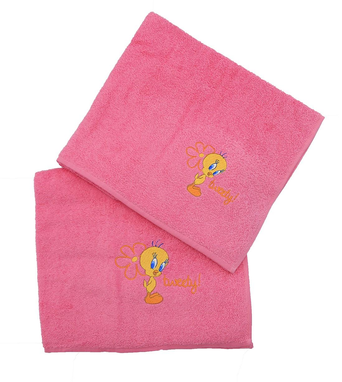 Παιδικές Πετσέτες (Σετ 2τμχ) Viopros PR. Tweety Collection