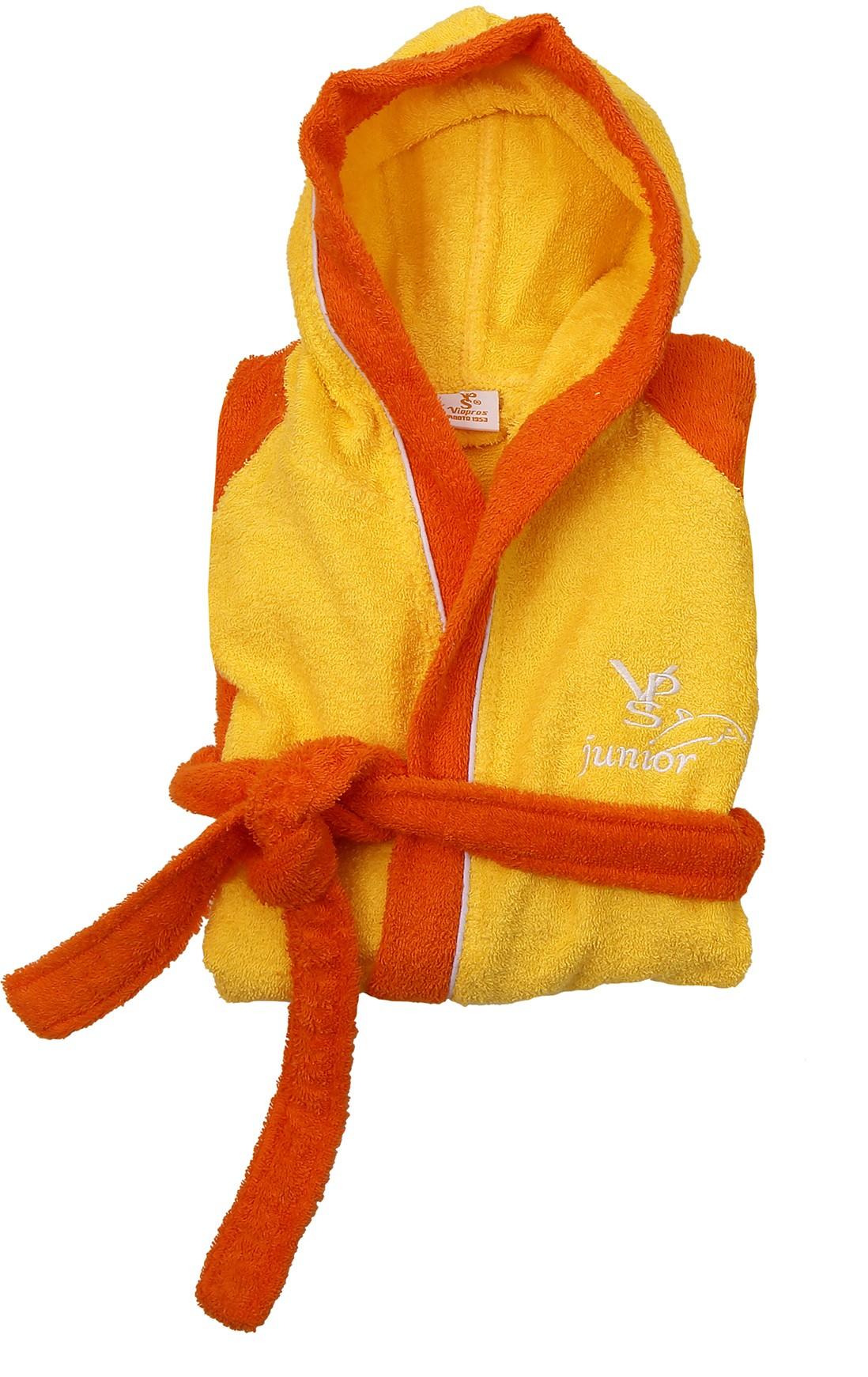 Παιδικό Μπουρνούζι Viopros Σπορτ Κίτρινο-Πορτοκαλί 11-13 11-13