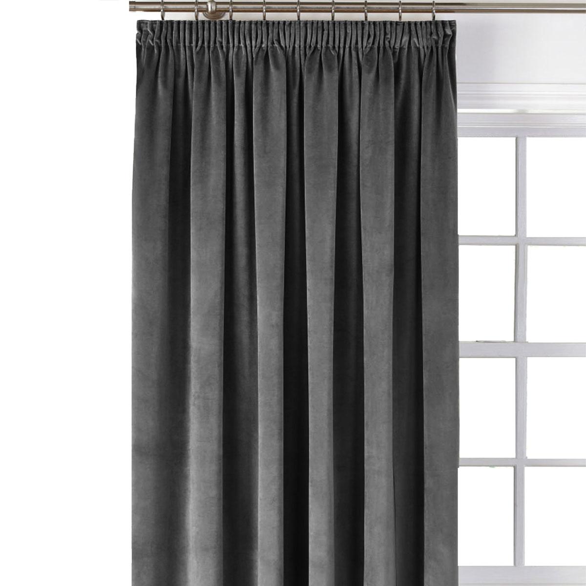 Κουρτίνα Blackout Βελούδινη (140×270) Με Τρέσα Elite Velour D.Grey