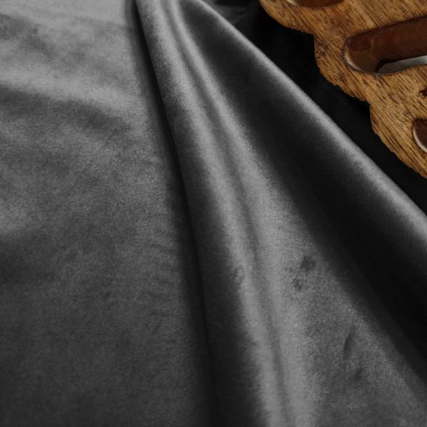 Κουρτίνα Blackout Βελούδινη (140x270) Με Τρέσα Elite Velour D.Grey