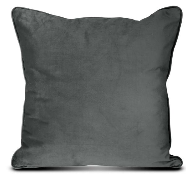 Διακοσμητικό Μαξιλάρι Βελούδινο (45x45) Elite Velour D.Grey
