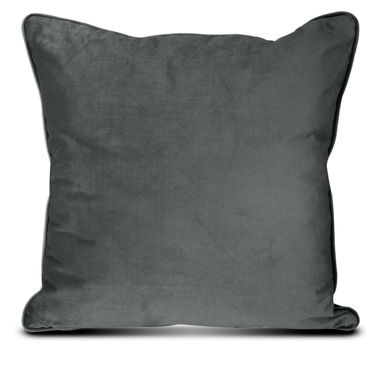 Διακοσμητικό Μαξιλάρι Βελούδινο (45×45) Elite Velour D.Grey