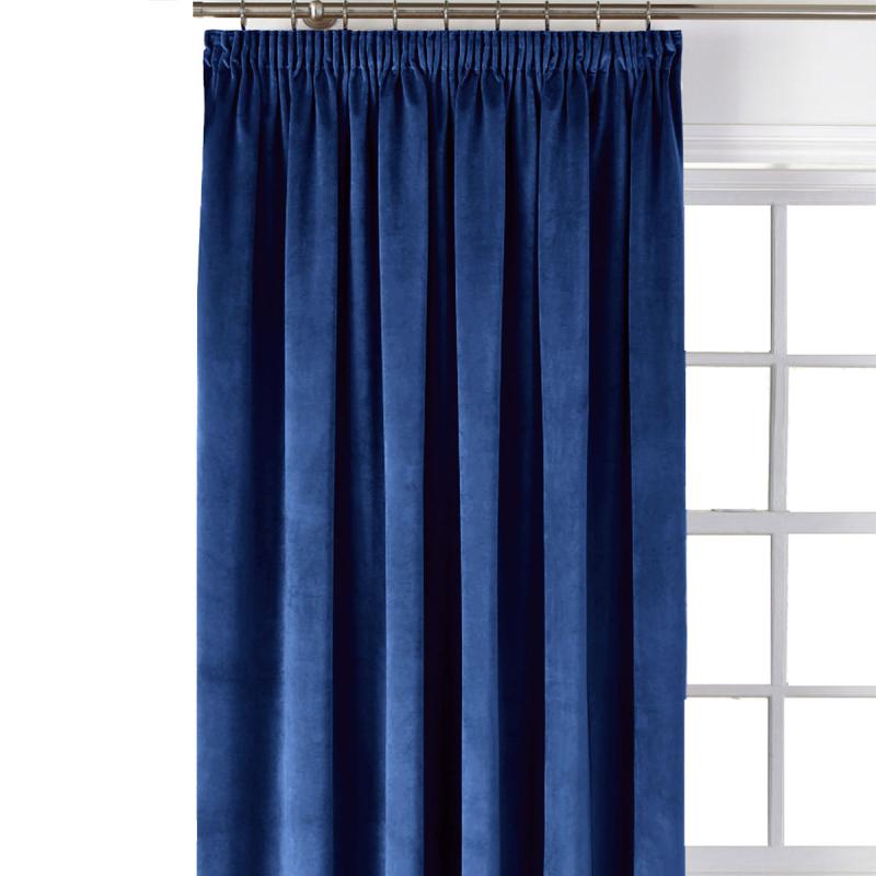 Κουρτίνα Blackout Βελούδινη (140x270) Με Τρέσα Elite Velour Blue